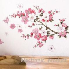 flower quarto sala vinyl decal art dIY home decor adesivo parede removível The real adesivos