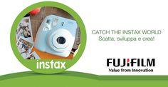  'SCOPRI IL MONDO INSTAX'  Le fotocamere INSTAX danno ai fotografi, artisti, professionisti e tutti gli appassionati di pellicole un piacere ISTANTANEO!