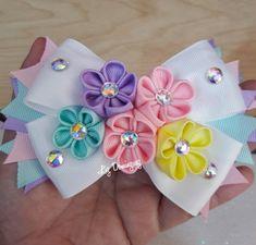 Hair Ribbons, Diy Hair Bows, Diy Bow, Diy Ribbon, Ribbon Hair, Ribbon Crafts, Bow Tutorial, Flower Backdrop, Hair Ornaments
