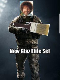 Leaked Glaz Elite Skin Rainbow 6 Seige, Rainbow Six Siege Memes, Tom Clancy's Rainbow Six, Gaming Memes, Funny Games, Funny Pins, Best Games, Rainbows, Videogames