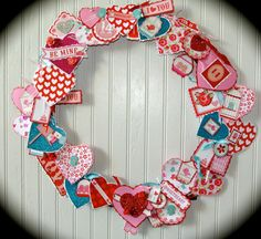 Valentine's Day Wreath 18 by HolidayPaperie on Etsy, $75.00