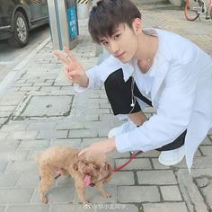 Ulzzang Boy, Hot Boys, Handsome Boys, Dogs, Baby, Animals, Boyfriends, China, Drawings