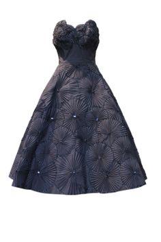 Abito antracite Dior couture anni '50