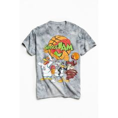 Space Jam Dye Tee ($28) ❤ liked on Polyvore featuring men's fashion, men's clothing, men's shirts, men's t-shirts, tops, tees, urban outfitters mens shirts, mens crew neck t shirts, mens tie dye t shirts and mens cotton shirts