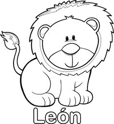 Spanish coloring pages Animal Sketches Easy, Spring Coloring Pages, Sugar Skull Art, Drawing For Kids, Animal Design, Animal Paintings, Cat Art, Baby Animals, Wild Animals