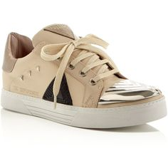 Ivy Kirzhner Sputnik Lace Up Sneakers (13.115 CZK) ❤ liked on Polyvore featuring shoes, sneakers, cream, ivy kirzhner shoes, lacing sneakers, laced sneakers, laced up shoes and lace up sneakers