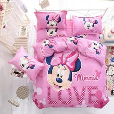 Disney Mickey or Minnie Mouse Bedding Set - Duvet Cover, Bed Sheet. Pillow Cases : Disney Mickey or Minnie Mouse Bedding Set – Duvet Cover, Bed Sheet.