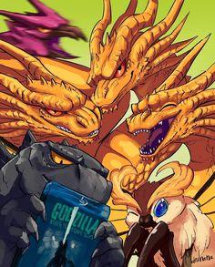 Original Godzilla, Aliens, Monster Board, Godzilla Comics, Koro Sensei, Godzilla Wallpaper, Japanese Monster, The Ancient One, Great Memes