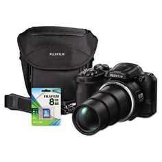 FinePix S8600 Digital Camera Bundle, 36x Optical Zoom, 16MP