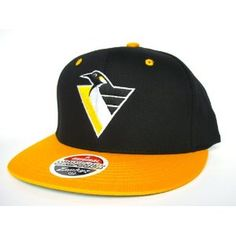 best website 2437c 4943e PITTSBURGH PENGUINS Snapback Hat - Zephyr Snapback - NHL CAP - 2 Tone  Black Gold