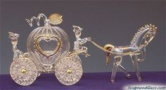 Spun Glass Cinderella's Carriage | Cake Toppers | Pinterest | More Glass and Glass art ideas