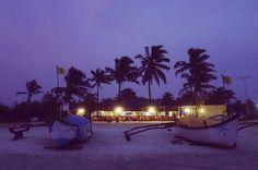 Beach shack at sunset in Goa