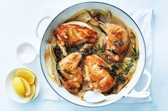 Donna Hay- Tarragon and Lemon Roast Chicken / the new easy, photography by William Meppem