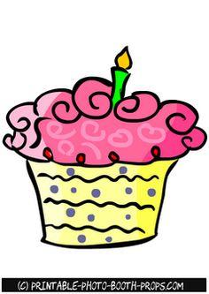 Free Printable Pink Cupcake Photo Booth Prop