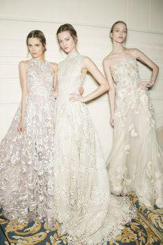 Mauve and lace wedding dress