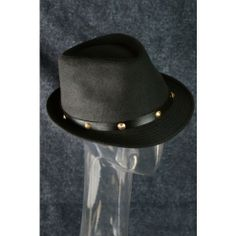 Fedora Hat Trend Fashion Fall Winter Hipster Gold Studded Hat Black $15 only  www.monrevecollection.com