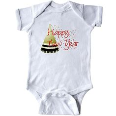 Inktastic Unisex Baby Happy New Year Infant Creeper 12 Months White