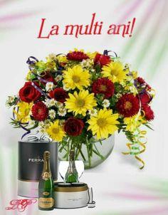 Anul Nou, Happy Birthday, Table Decorations, Facebook, Floral, Happy Brithday, Urari La Multi Ani, Flowers, Happy Birthday Funny
