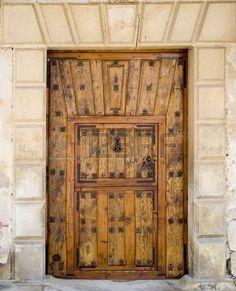 Intricate medieval door in Pedraza, Castilla y Leon, central Spain. photo
