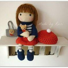 Crochet doll and little bear                                                                                                                                                                                 More