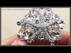 VIDEO- Rhinestone Starfish Hair Comb by Hair Comes the Bride - Ocean Star #bride #bridal #wedding  #beachwedding #beachbride #beachbridal #beachweddingaccessories #beachbridalaccessories #starfishcomb