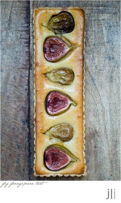 """fig frangipane tart"" -- Only gorgeous photos at the click-through, BUT comments include a link for a base recipe (http://www.dailymail.co.uk/femail/food/article-1308693/Recipe-Fig-frangipane-tart.html), plus the changes she made to it."