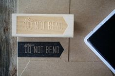 Please Do Not Bend Stamp - cute!