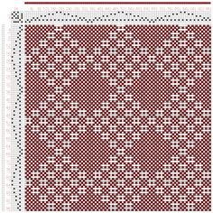 Hand Weaving Draft: No 10. Diamond Diaper., J. and R. Bronson, 6S, 6T - Handweaving.net Hand Weaving and Draft Archive