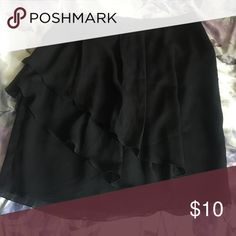 Black skirt This black skirt with ruffles is perfect for any day on the job or off. Cato Skirts