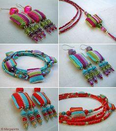 Jóias Crochê -  /     Crochet Jewelry -