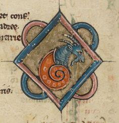 Illumination Goat in Snailshell