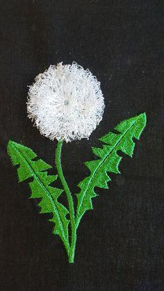 Dandelion Fringe Embroidery design / 3D embroidery by SpareStudio