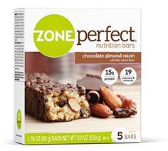 ZonePerfect Nutrition Bars Chocolate Almond Raisin 1.76 Ounce Bar 30 Count