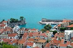 Nafpaktos; view from the fortress.
