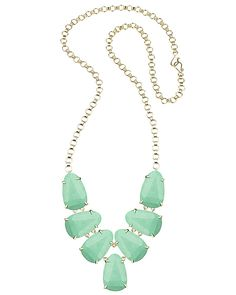 Harlie Statement Necklace in Mint - Kendra Scott Jewelry.