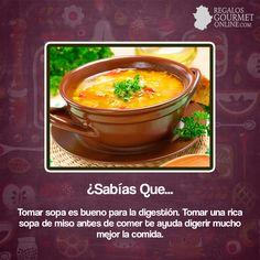 ¿#SabíasQue Tomar sopa es bueno para la digestión?#Curiosidades#Gastronomía
