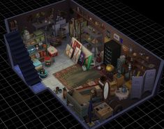 I love building cluttered storage spaces. Sims 1, Sims 4 Mods, Sims 4 House Plans, Sims 4 House Design, Casas The Sims 4, Sims Building, Sims Four, Sims 4 Build, Sims 4 Game