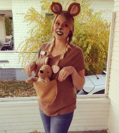 Your bump is adorable, but you know what would make it even cuter? A pouch! Don this easy DIY Kangaroo costume to pay homage to your future mom-self. After all, kangaroos were the original babywearers.