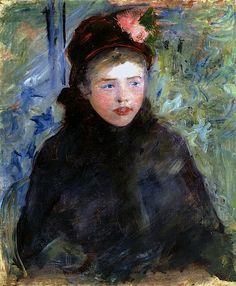 Susan in a Toque Trimmed with Two Roses Mary Cassatt - circa 1881