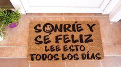 Felpudo: Sonríe y sé feliz. Lee esto todos los días 1
