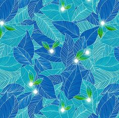 Cotton Quilt Fabric Luminescence Fairy Lantern Azure Blue  1/2 Yard - product image