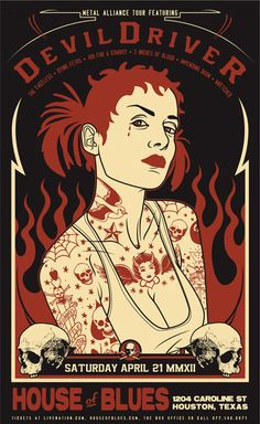 Devil Driver House of Blues Houston concert poster