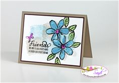 Stampin UP Garden in Bloom - card by Sandi @ www.stampingwithsandi.com
