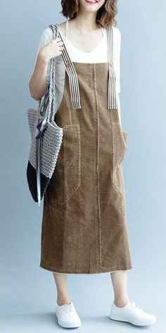 Fashion Coffee Corduroy Dresses Women Autumn Outfits - Fashion Coffee Corduroy Dresses Women Autumn Outfits Source by sesteredi - Trendy Dresses, Simple Dresses, Women's Fashion Dresses, Nice Dresses, Casual Dresses, Fall Outfits, Dress Outfits, Maxi Dresses, Diy Kleidung