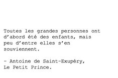 Citation : Le Petit Prince