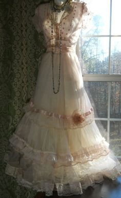 This shop has the most beautiful dresses...