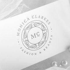 Fashion Logo Design, Silver Logo, Boutique Logo, Elegant Logo, Fashion Blog Logo, Wedding Logo, Seal Logo, Business Stamp Logo, Artist Logo by WithPassionDesign on Etsy https://www.etsy.com/listing/504671226/fashion-logo-design-silver-logo-boutique