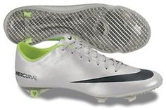 The Nike Mercurial Vapor with the silver and black color scheme makes these soccer cleats Scream out to you.