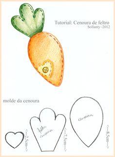 Tutorial de cenoura de feltro
