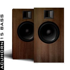 Acuhorn 15 Bass Audiophile Stereo Speakers 96dB Ribbon Tweeter Woofer Neodymium #Acuhorn